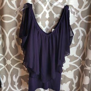 Purple flutter top